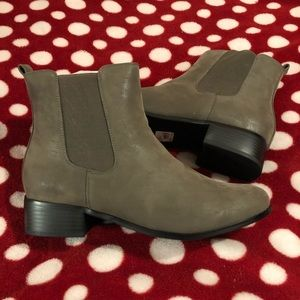 Faux Leather Ankle Boots Lane Bryant